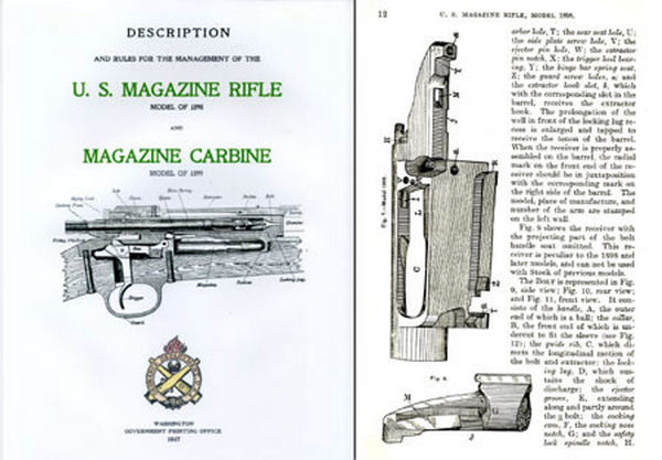 Krag - U.S. Magazine Rifle & Carbine Model 1898 & 1899 Krag Manual (1917 edition)