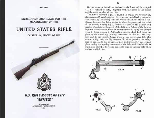 U.S. Rifle Model 1917 - Lee Rifle Rules for the Management (white)- Manual