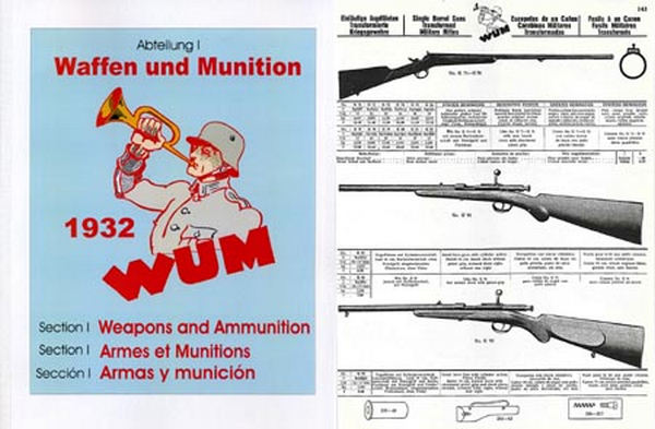 WUM 1932 (German- Eng, Fr, Sp, & Ger Text) Gun & Sports Catalog