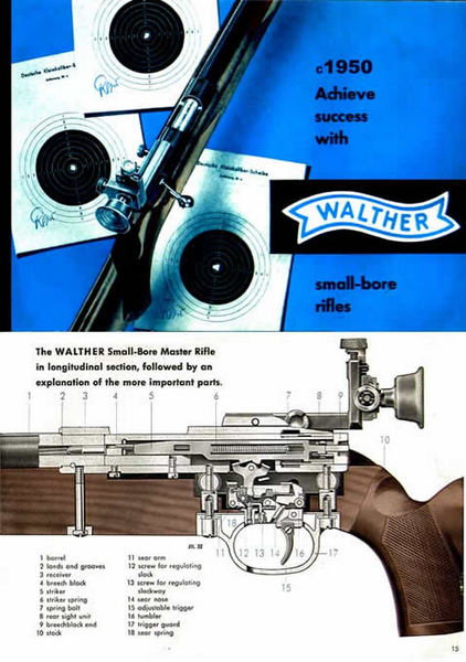 Walther Small Bore Rifle Catalog c1963