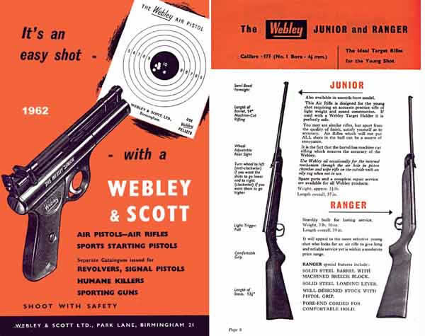 Webley & Scott 1962 Air and Shot Gun Catalog