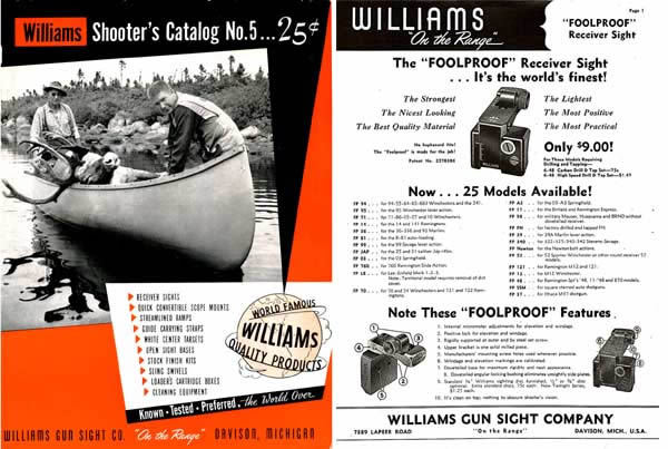 Williams 1954 Shooter's #5 Gunsight and Equipment Catalog
