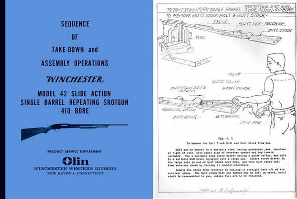 Winchester Model 42 Complete Takedown Manual - PDF DOWNLOAD VERSION