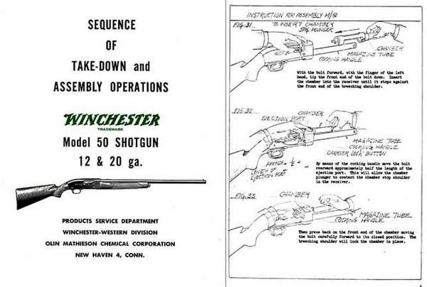 Winchester Model 50 Complete Takedown Manual - PDF DOWNLOAD VERSION