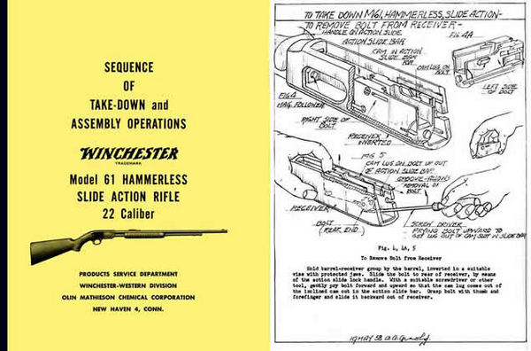 Winchester Model 61 Complete Takedown Manual - PDF DOWNLOAD VERSION