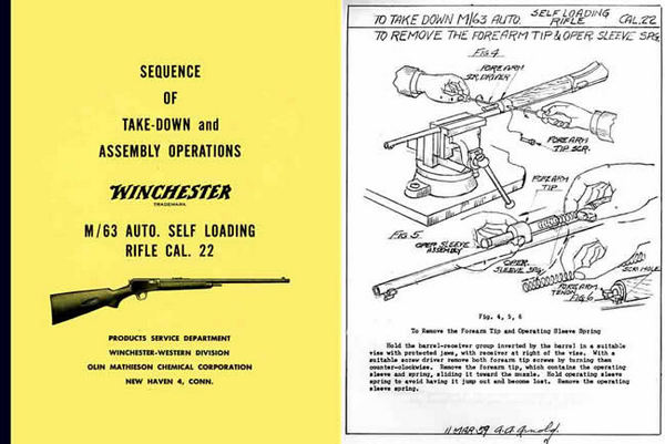 Winchester Model 63 Complete Takedown Manual - PDF DOWNLOAD VERSION