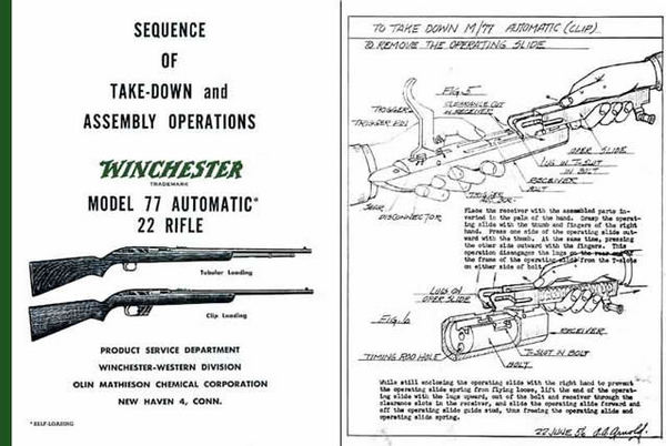 Winchester Model 77 Complete Takedown Manual - PDF DOWNLOAD VERSION