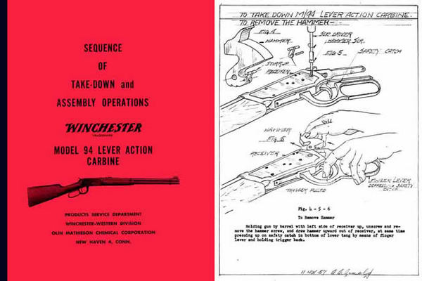 Winchester Model 94 Complete Takedown Manual - PDF DOWNLOAD VERSION