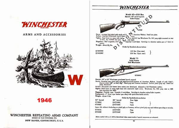 Winchester 1946 Small Catalog