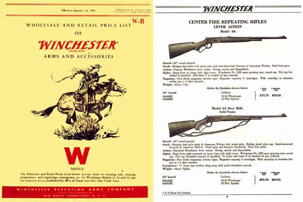 Winchester 1948 Price List Catalog