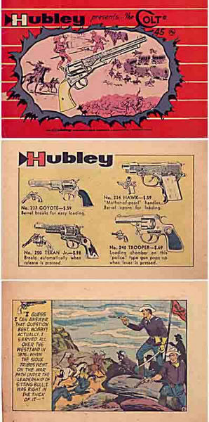 Hubley 1958 Comic and Cap Gun Catalog