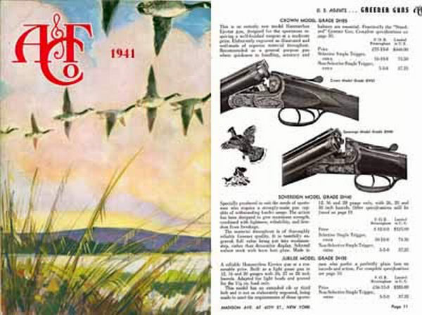 Abercrombie & Fitch Firearms & Sports 1941 Catalog