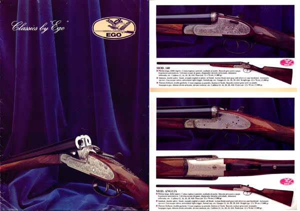 Armas EGO (Spain) c1980 Gun Catalog