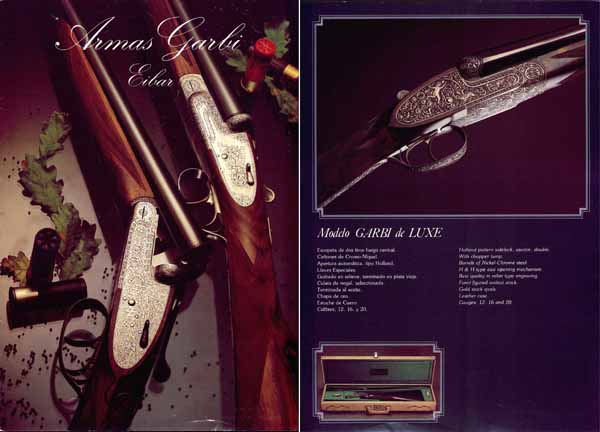 Armas Garbi (Spain) 1985 Gun Catalog