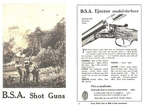 BSA c1950 (UK) Shotguns, Rifles & Air Guns Catalog
