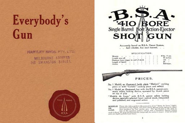 BSA c1911 (UK) .410 Shotguns