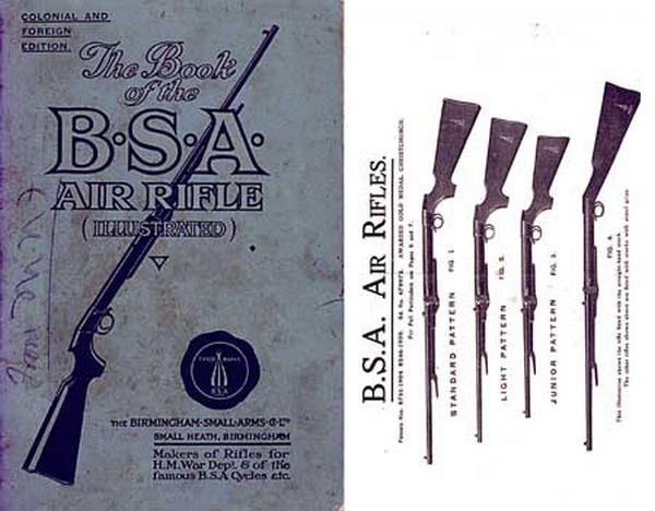 BSA c1911 (Birmingham Small Arms) Air Gun Catalog