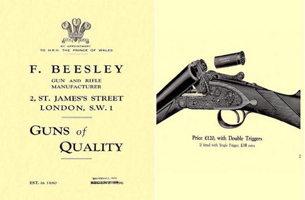 F. Beesley (UK-London) c1922 Gun Catalog