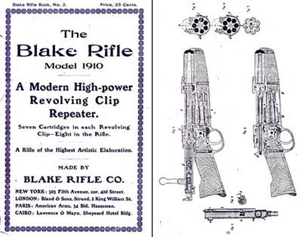 Blake Rifle Company, Revolving Clip Rifles 1910 (New York)