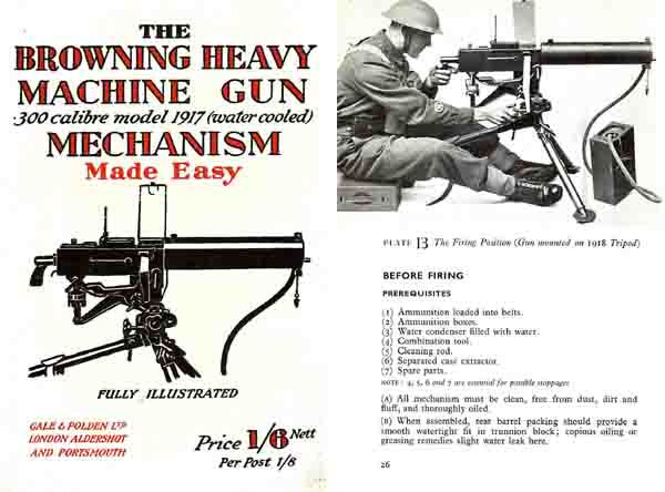Browning 1940 HMG .300 cal M1917 Mech Made Easy- Manual