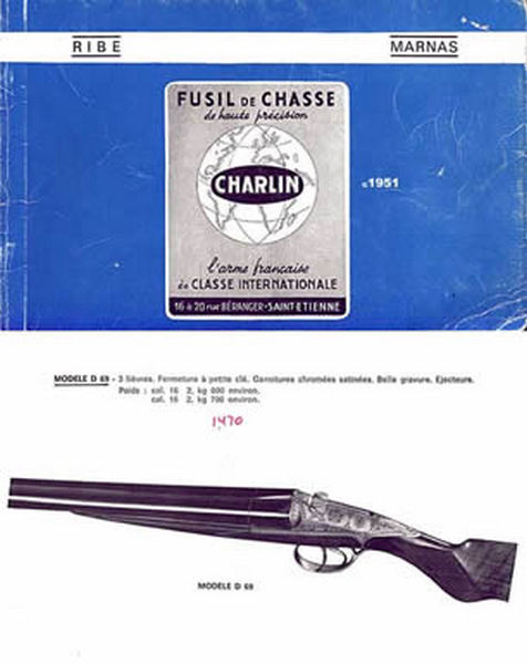Charlin Fusil de Chasse c.1951 Catalog