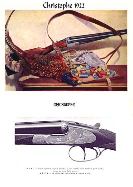 Christophe (Belgian) Gun Catalog - 1922