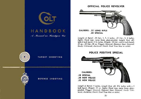 Colt 1953 Handgun Handbook and Catalog