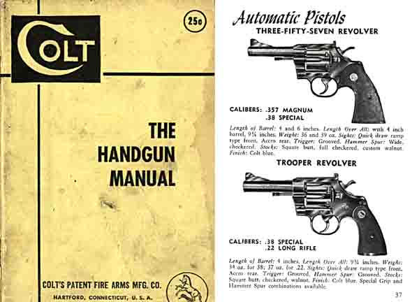 Colt 1954 Handgun Manual and Catalog