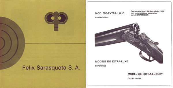 Felix Sarasqueta SA c1985 (Spain) Gun Catalog