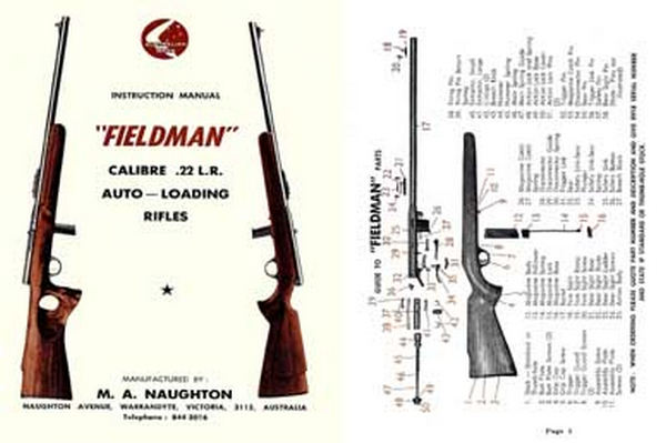 Fieldman Rifles Manual (AU) c1955