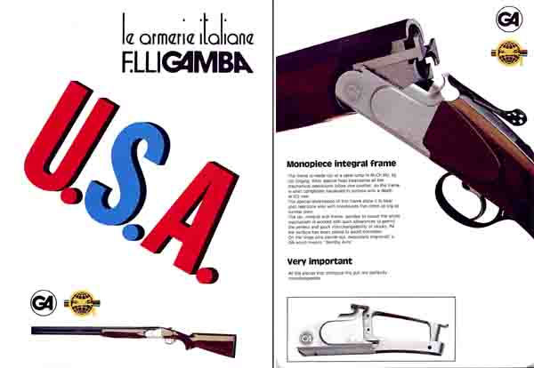 F lli Gamba USA 1981 Gun Catalog