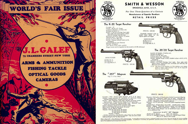 JL Galef 1939 World's Fair Issue Gun, Fishing & Sports Catalog (NY)