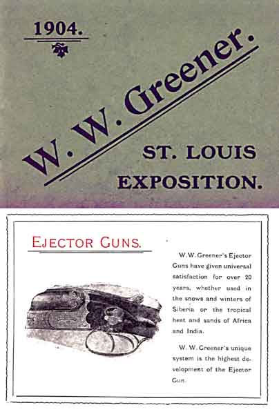 WW Greener 1904 St. Louis Exposition Catalog (England)