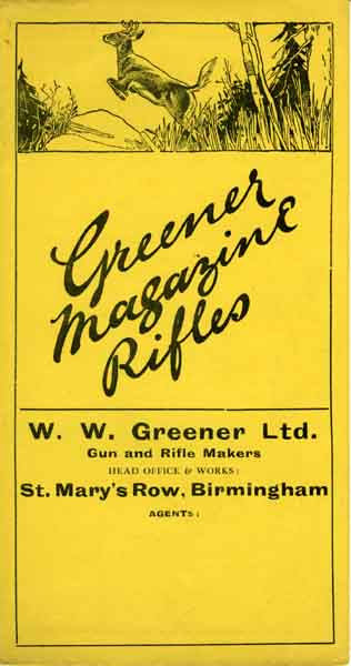 WW Greener c1930 Magazine Rifle Flyer