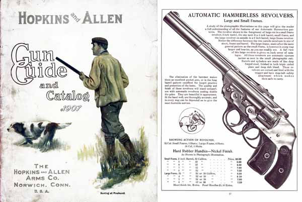 Hopkins & Allen 1907 Gun Catalog - Picture 1