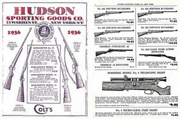 Hudson Sporting Goods 1936 Catalog