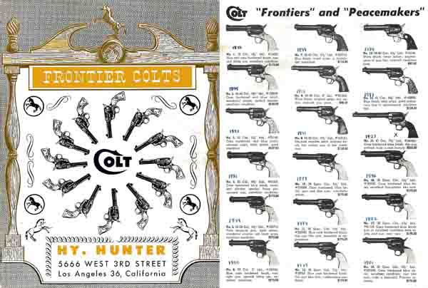 Hy Hunter's - Frontier Colts c.1958 Catalog