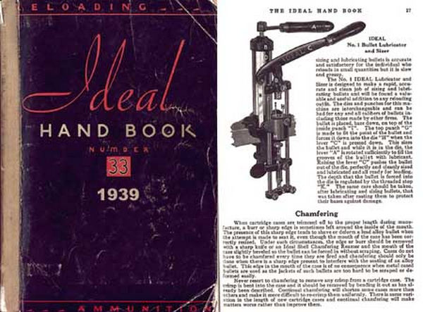 Ideal 1939 Hand Book No. 33, - Ammunition & Reloading