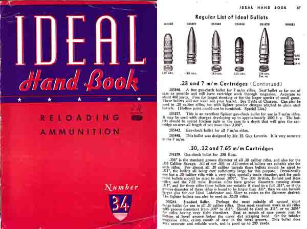 Ideal 1945 Hand Book No. 34 - Ammunition & Reloading