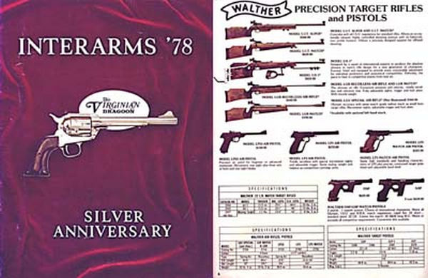Interarms 1978 Catalog