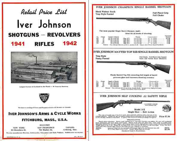 Iver Johnson 1941-2 Gun Catalog