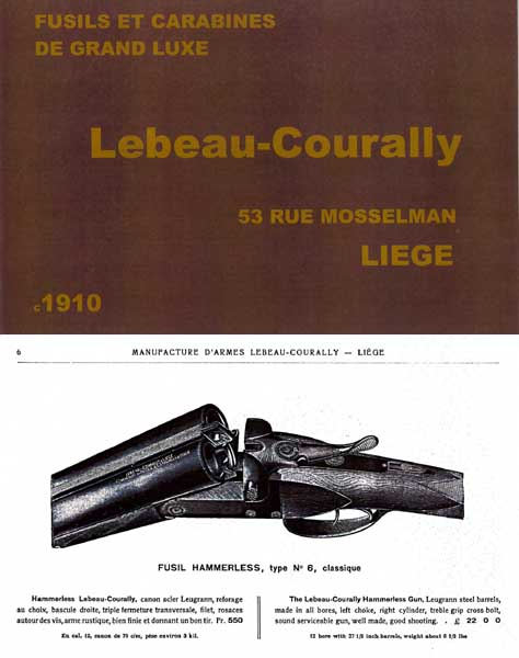 Lebeau Courally Gun Catalog (Fr) c1910