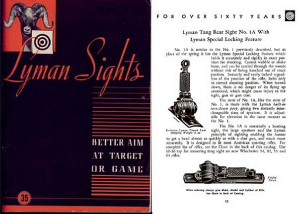 Lyman 1950 Sights No. 35 Catalog