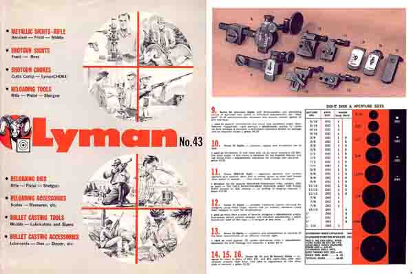 Lyman 1960-62 Sights No. 43 Catalog