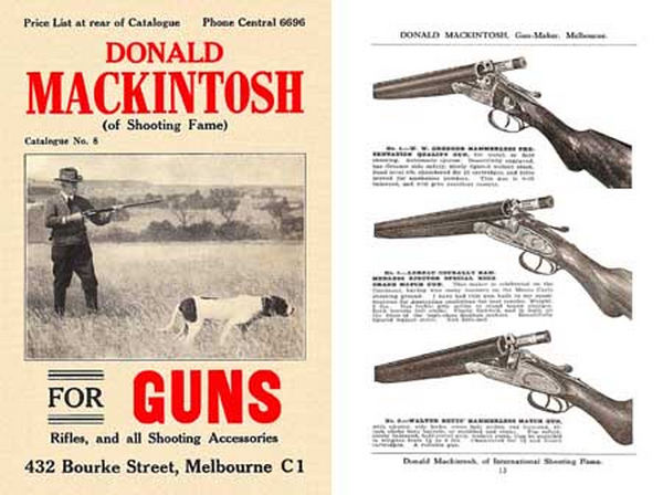 Mackintosh, Donald c1929 (AU-Melb) Gun Catalog