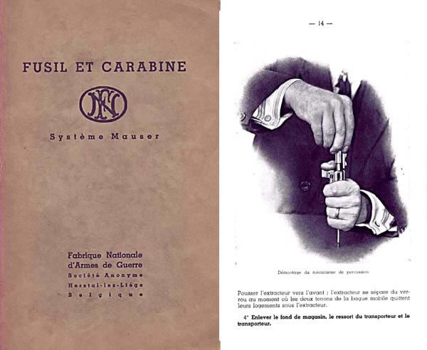 Mauser c1926 Manual - Fusil Et Carabine, - in French