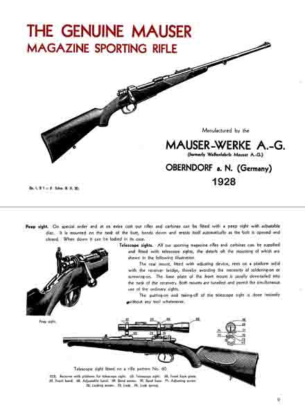 Mauser 1928, The Original Magazine Sporting Rifles