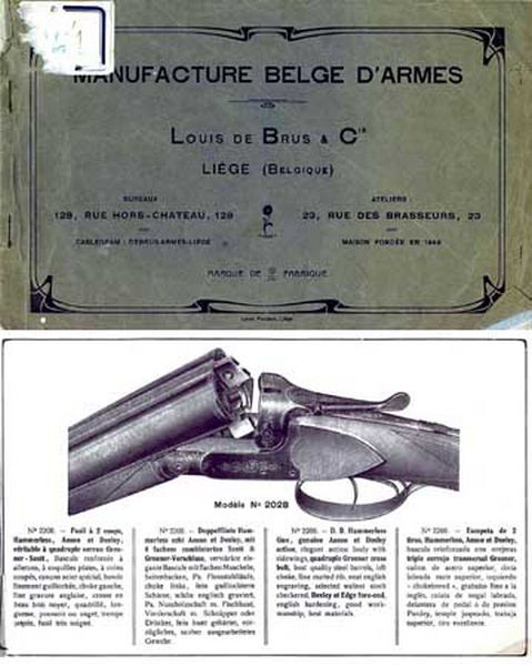 Louis De Brus Mfr. Belge D'Armes c1938 Catalog