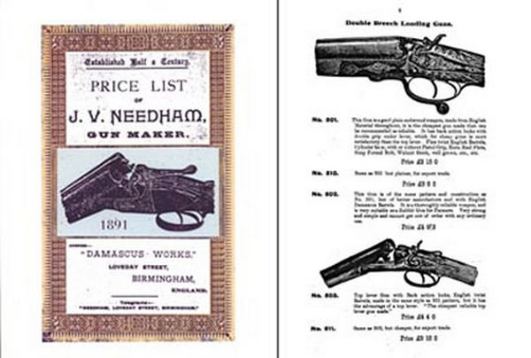 J V Needham Gun Maker 1891 Catalog (UK)