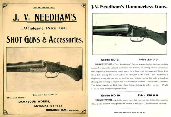 J V Needham 1910 Gun Catalog